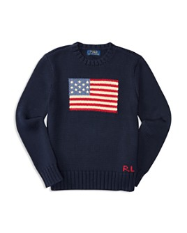 Ralph Lauren - Boys' American Flag Sweater - Big Kid