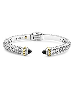 LAGOS 18K Gold and Sterling Silver Caviar Color Black Onyx Cuff Bracelets - Bloomingdale's_0