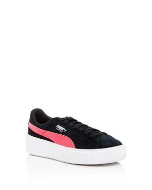 Puma Girls' Suede Platform Sneakers - Big Kid