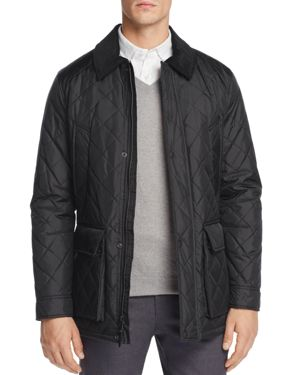 Cole Haan Quilted Elbow-Patch Jacket