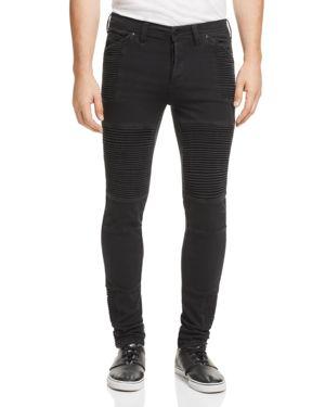 Nana Judy Moto Signature Super-Slim Jeans in Black