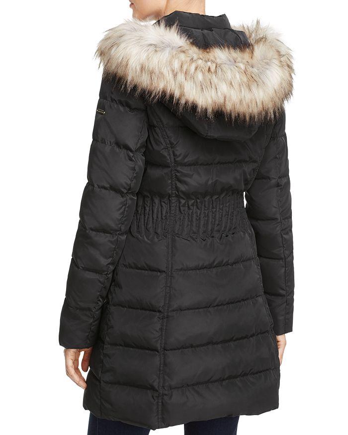 84fb025e2 Windbreaker Faux Fur Trim Cinched Waist Puffer Coat