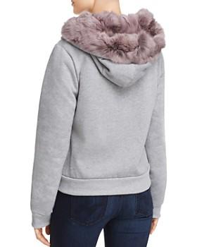 Jocelyn - Rabbit Fur Trim Sweatshirt