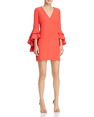 Milly Nicole Ruffle-Sleeve Dress