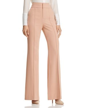 Alice + Olivia Dawn Front Pintuck Flared Pants