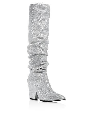 Stuart Weitzman - Women's Smashing Scrunched Metallic Tall Boots