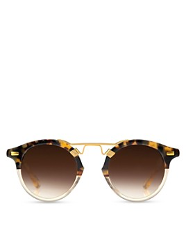 Krewe - Unisex St. Louis 24K Round Sunglasses, 46mm
