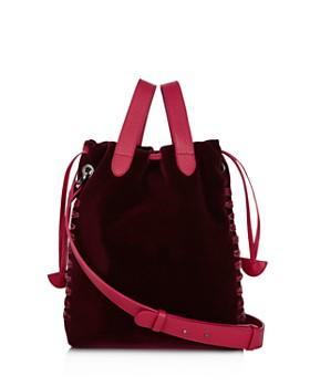 meli melo - Hazel Small Velvet Bucket Bag
