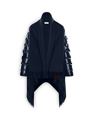 Moncler Mixed Media Down Cape