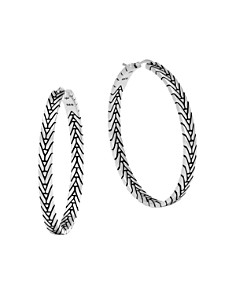 John Hardy Sterling Silver Modern Chain Hoop Earrings - Bloomingdale's_0
