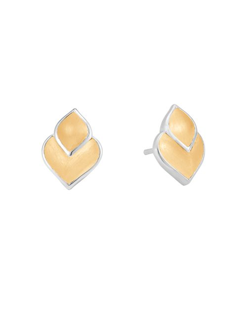 JOHN HARDY - 18K Yellow Gold and Sterling Silver Legends Naga Stud Earrings