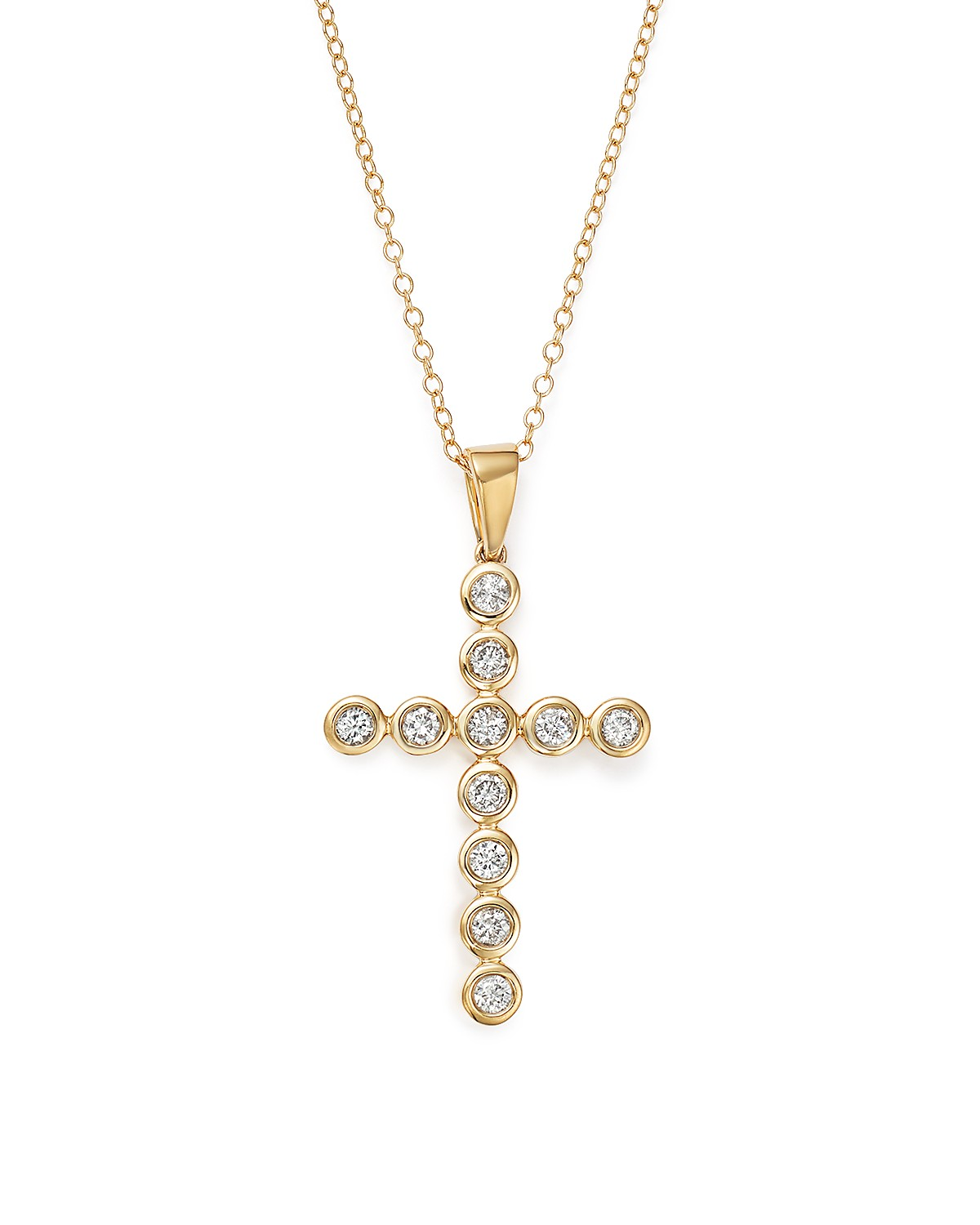 charm bezel necklace diamond centres gold pendant yellow product