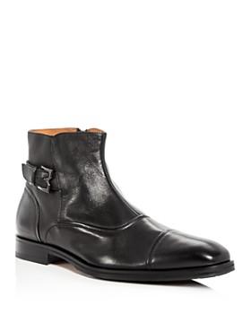 Bruno Magli - Men's Arcadia Nappa Leather Cap Toe Boots