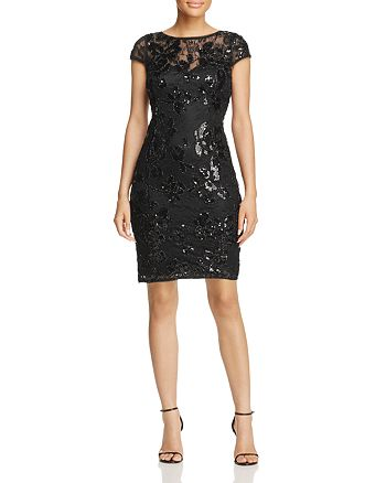 Adrianna Papell - Embellished Lace Dress