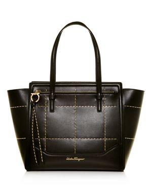 Salvatore Ferragamo Amy Beaded Medium Leather Tote 2468559