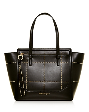 Salvatore Ferragamo Amy Beaded Medium Leather Tote