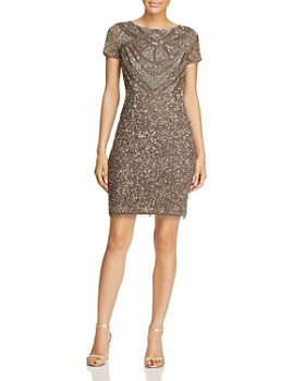 Adrianna Papell - Beaded Sheath Dress