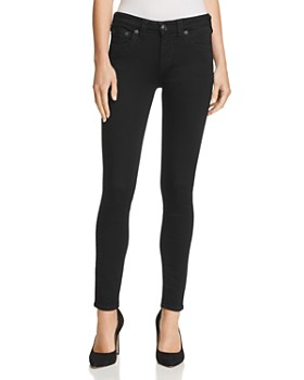 True Religion - Jennie Curvy Skinny Jeans in Way Back Black