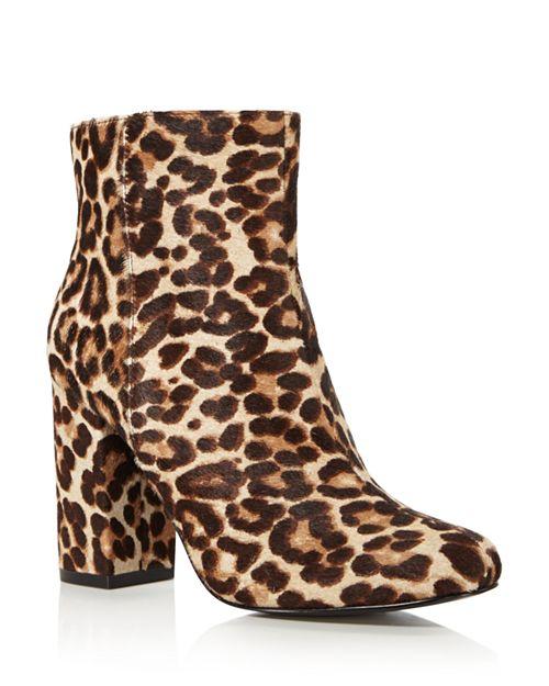 Charles David - Women's Studio Leopard Print Calf Hair Block Heel Booties