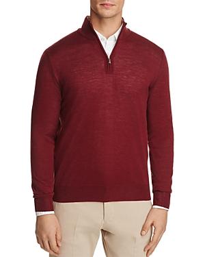 Canali Quarter Zip Regular Fit Knit Sweater