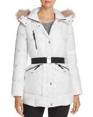 Marc New York Lucy Faux Fur Trim Puffer Jacket