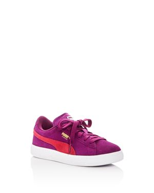 Puma Girls' Suede Lace Up Sneakers - Little Kid