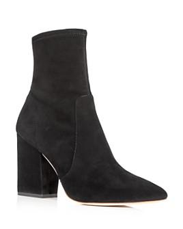 Loeffler Randall - Women's Isla Pointed Toe Block Heel Booties