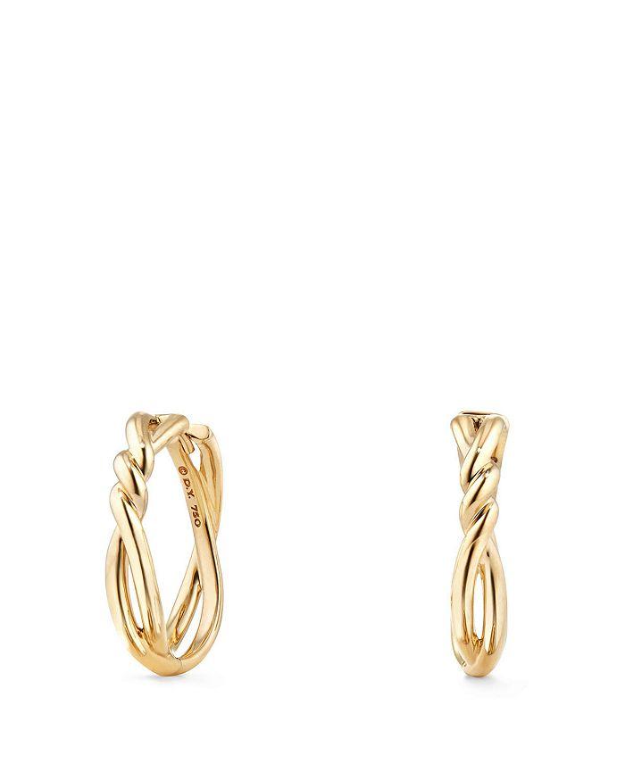 David Yurman - Continuance Knot Hoop Earrings in 18K Gold