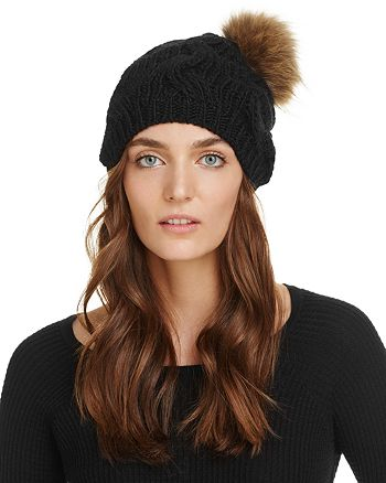 Echo - Fur Pom-Pom Beanie - 100% Exclusive