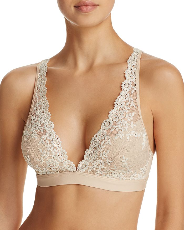 ba3bb121fb Wacoal Embrace Lace Convertible Plunge Soft Cup Wireless Bra ...
