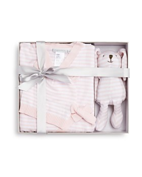 Elegant Baby - Girls' Bodysuit, Hat & Bunny Gift Set, Baby - 100% Exclusive