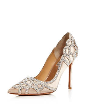 Badgley Mischka - Women's Rouge Embellished Pointed Toe Pumps
