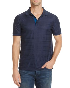 Boss Green Janis Herringbone Jacquard Short Sleeve Polo Shirt