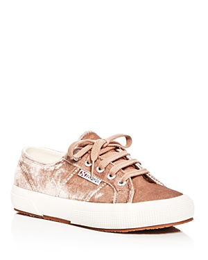 Superga Women's Classic Velvet Lace Up Sneakers