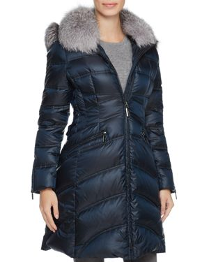 Dawn Levy Cloe Fur Trim Down Coat