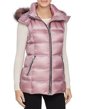 Andrew Marc - Claire Fox Fur Trim Down Vest