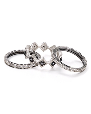 Freida Rothman Pave Stacking Rings, Set of 3-Jewelry & Accessories