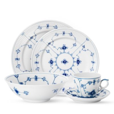 """Blue Fluted Plain"" Bread & Butter Plate"