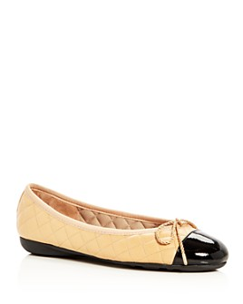 Paul Mayer - Women's Best Brighton Quilted Cap-Toe Ballet Flats