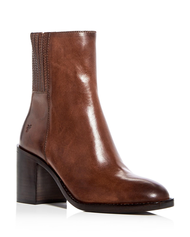 Frye Women's Pia Leather High Block Heel Booties cLDprN
