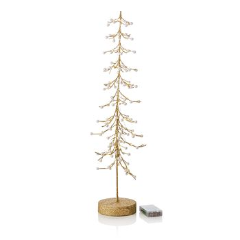 """Bloomingdale's - Light Up Gold Wire Tree, 25"""" - 100% Exclusive"""