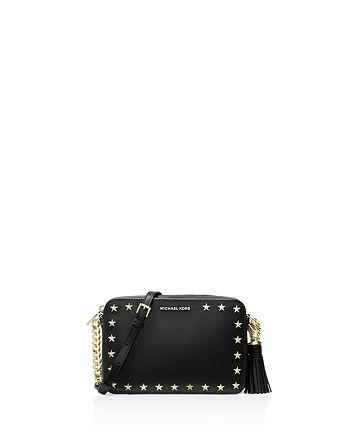 8d9700174 MICHAEL Michael Kors Ginny Star Stud Medium Leather Camera Bag ...