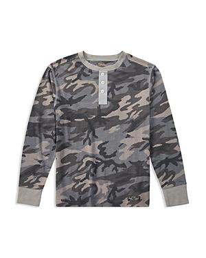 Ralph Lauren Childrenswear Boys Camouflage Henley  Big Kid