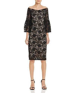 Adrianna Papell Off-the-Shoulder Lace Dress - 100% Exclusive