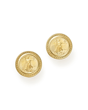 Coin Clip-On Earrings in 14K Yellow Gold - 100% Exclusive