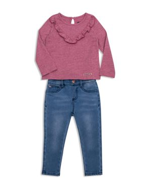 Hudson Girls' Ruffled Tee & Skinny Stretch Jeans Set - Little Kid thumbnail