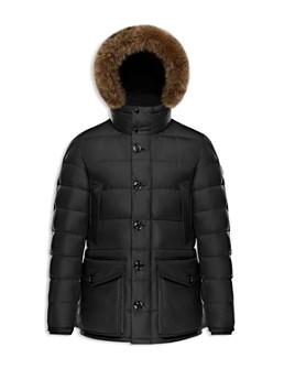 Moncler - Men's Cluny Fur-Trimmed Hooded Jacket