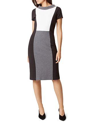 HOBBS LONDON - Cordelia Color-Blocked Dress