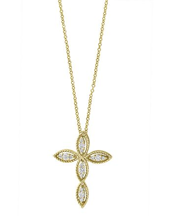 Bloomingdale's - Diamond Cross Pendant Necklace in 14K Yellow Gold, .20 ct. t.w. - 100% Exclusive