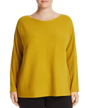 Eileen Fisher Plus Ribbed Wool Sweater